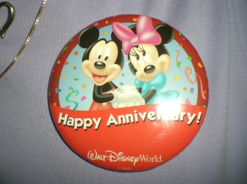 My parents' 25th Anniversary buttons in 2009