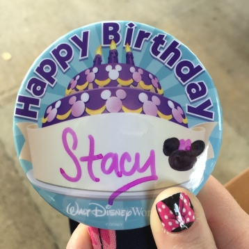 My birthday button in 2015!